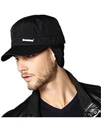 Kenmont hiver hommes chauds Noir Waterproof Casquette cache-oreilles Hat