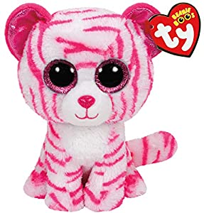 Ty- Peluche, Juguete, Color Blanco/Rosa, 15 cm (United Labels Ibérica 36180TY)