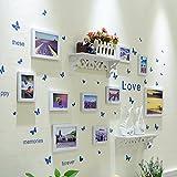 QU HUAI DONG AA Foto Wand Dekoration Kombination Einrichten Tabelle Kreative Wand Fotowand Wie Rahmen Bilderrahmen Hintergrund Wand Home (Farbe : A)