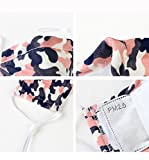 3 Stück Aktivkohle Mundschutz Maske aus Baumwolle Verstellbar Ohrbügel Gesichtsmaske Feinstaubmaske inkl. 2 Filter gegen Staub Kälte Pollen Keime für Herren Damen HELLBLAU+GRÜN+PINK(Bunt) -