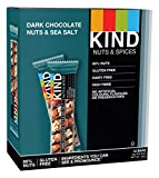 Kind Dark Chocolate Nuts and Sea Salt Bar 40 g (Pack of 12)