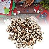 HEEPDD 100 Pezzi Nota Musicale in Legno Note Decorative Miste fette di Legno per Decorazioni domestiche Festa di Natale di No