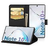 EasyAcc Hülle Case für Samsung Galaxy Note 10 Plus, PU Kunstleder Kartenhalter & Faltbare Tasche Handyhülle mit Standfunktion Brieftasche Handy Schutzhülle Kompatibel mit Samsung Note 10 + 6.8''