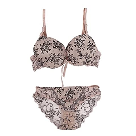 Brightup Women Floral Lace Bra Set Lingerie Underwear Push Up Padded Bra