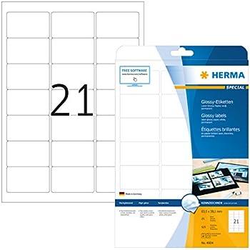 63,5 x 38,1 mm HERMA Universal-Etiketten PREMIUM weiß