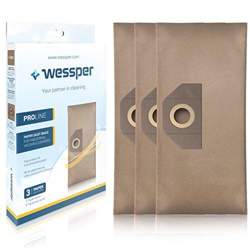 Wessper Bolsas de aspiradora para Karcher WD5 1.348-191.0 (3 Piezas, Papel)