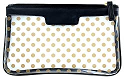 Black : First Glance Clear Essentials Case with Polka Dot Decoration (BLACK)