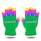 DEDY Weihnachten Spielzeug 2018 für Kinder, Leuchten Rave Handschuhe für Jungen Mädchen Geschenke für 3-12 Jahre alt Kinder Weihnachten Cool Toys für Geburtstag Party Green MMJSST01