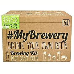 Idea Regalo - #Cervezanía Kit per fermentazione Birra Artigianale | Ricetta Biologique Pilsen Ale | 5 Litri | Malto macinato e Luppolo Fresco | La Tua Birra a casa