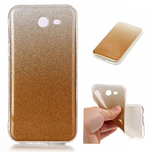 Coque Samsung Galaxy J3(2017) J320,Coffeetreehouse Housse Etui TPU Silicone Ultra Slim coloré Paillettes Slim Etui Housse Coque Case Cover pour Samsung Galaxy J3(2017) J320 - D'or