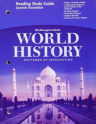 World History, Grades 9-12 Patterns of Interaction-Full Survey Reading Study Guide: Holt World History por Holt Mcdougal