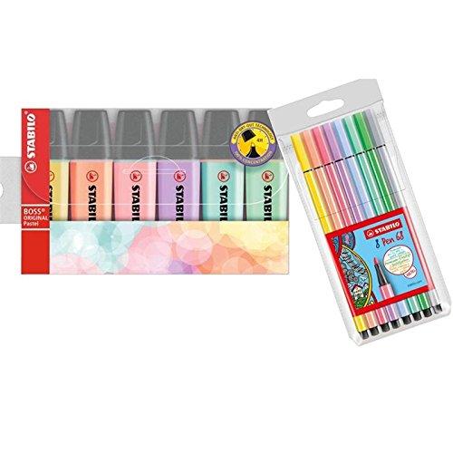 Textmarker BOSS pastel 6St -