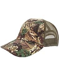 Gorra de camuflaje con tejido transpirable Modelo Woodland Camouflage Unisex Hombre Mujer - Caza / Pesca