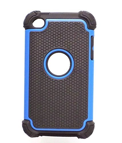 Bracevor Triple Layer Defender Hard Shell Back case cover for Apple iPod Touch 4 (Blue)  available at amazon for Rs.299