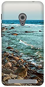 The Racoon Lean Rocky Shore Beige hard plastic printed back case / cover for Asus Zenfone 4 A450CG