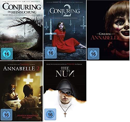Conjuring Teil 1+2 + Annabelle Teil 1+2 + The Nun [DVD Set] 5 Filme