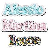ocballoons Portaconfetti Polistirolo Personalizzabile Nome Scritta Sagome confettata Nomi Contenitore Caramelle Confetti Personalizzato (3 - 7 Lettere)