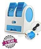 Vka Mini Fan & Portable Dual Bladeless Small Air Conditioner Water Air Cooler Powered By Usb & Battery