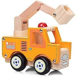 De madera natural de juguete pintado Camiones madera