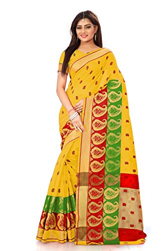 Royal Export Women's Gold Cotton Silk Saree
