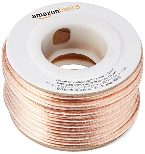 AmazonBasics Lautsprecherkabel 1,3 mm²/16 Gauge 15,24 m (50 Fuß) (16-gauge-box)