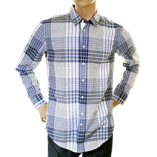 BOSS Hugo Orange Label Herren blau kariert 50215618clffe Shirt boss0796 Gr. Medium, Mehrfarbig -