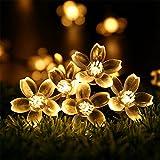 RECESKY Luci di Stringa Solare - RECESKY 50 LED 7m Luci di fiore - Luci Stringa di Natale - Catene Luminose per Esterni, Giardino, Terrazza, Cortile, Ghirlanda, Casa, Nozze, Fata, Partito, decorazione dell'albero di Natale