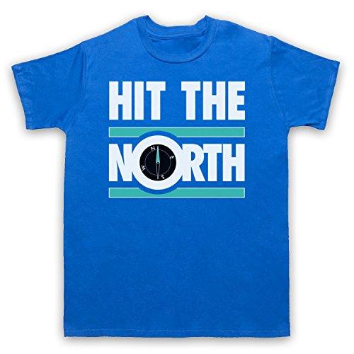 Inspiriert durch Fall Hit The North Unofficial Herren T-Shirt Blau