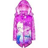 Disney Frozen Die Eiskönigin Winterjacke lang Longjacke Jacke für Kinder, Art. 8004, pink, Gr. 110