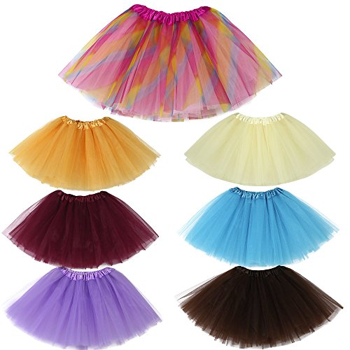 TIREOW Girls Kids Cute High Quality Baby Solid Tutu Ballet Skirts Fancy Party Skirt