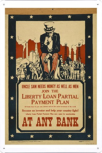 world-war-i-one-tin-sign-metal-poster-reproduction-of-uncle-sam-needs-money-as-well-as-men-join-the-
