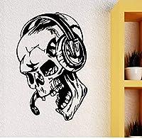 Xzfddn Pegatinas De Pared Gamer Skull Music Aur...
