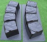 Betonex 2stampi per giardino 119,9cm bordo rotondo pietra cemento Mold ABS plastica # BR04