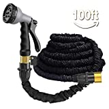Liwison Expandable Garden Hose Pipe 100FT Expanding Water Hose With(Valve) 8 Function Spray