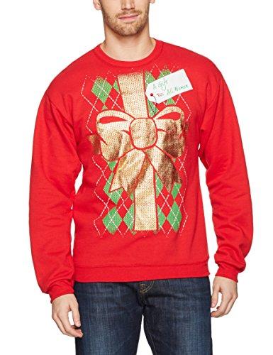 Hanes Herren Ugly Christmas Sweatshirt Pullover, Best Red/Gift to All Women, Mittel Hanes Womens Sweatshirt