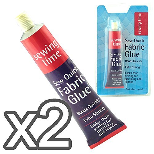 2 Pc Fabric Glue - Sew Quick - Bonds Quickly Very Strong - Easy Than Sewing For Hemming & Repairs by Rose Evans
