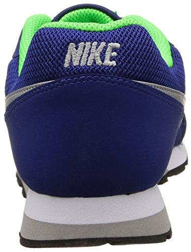Nike Md Runner 2 Gs, Baskets Basses Garçon Bleu - Blue (Deep Royal Blue/Wolf Grey-Wht)