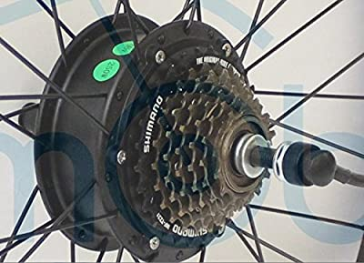 Kostenloser Versand Hot Sale 24V 250W Elektro-Fahrrad eBike Brushless Getriebeloser Mini Hub hinten Motor Unterstützung 7-fach Gear Hub Breite 135mm