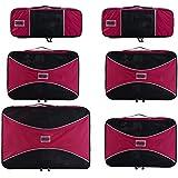 PRO Packing Cubes | Juego económico de 6 organizadores de viaje | Bolsos ahorradores del 30 % de espacio | Organizadores ultraligeros de equipaje | Ideales para bolsos de viaje, maletas y mochilas