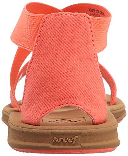Reef Little Rover Hi, Flip-flop fille Rouge (Coral)