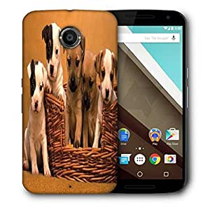 Snoogg Puppy In The Basket Printed Protective Phone Back Case Cover For LG Google Nexus 6