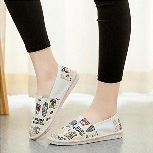Schuhe flache und Segeltuch Vielzahl Weiseweinlese der eine vorhanden Schuhe Art handgemachte Frauen beil盲ufige chinesischen Yellow Art 1C8q4C