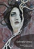 Colourful Women - Fantasy-Frauenportraits in Acryl und Mischtechnik (Wandkalender 2018 DIN A3 hoch): Figurative Malerei mit surrealistischen Elementen ... [Kalender] [Apr 13, 2017] JuPasArt, k.A.