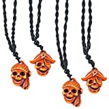 German Trendseller® - 6 x collier pirate ┃ Party ┃crâne et os croisés┃...
