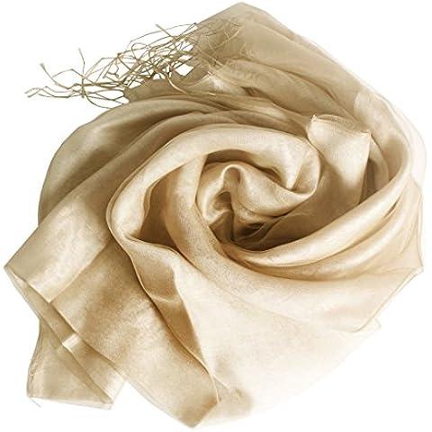 Andux pañuelo de seda para mujeres robó la protección solar de la bufanda de la bufanda Halstuch Ronda de noche del vestido de la bufanda