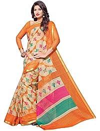 Miraan Women's Cotton Saree With Blouse Piece (Srh99_Multicolor)