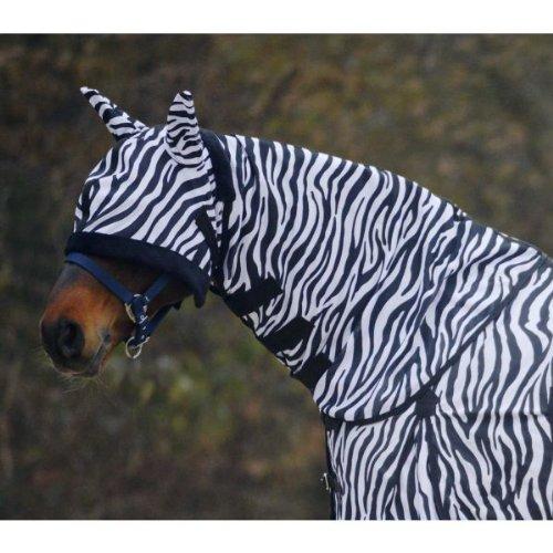 Waldhausen Fliegenhalsdecke Zebra, WB, schwarz/weiß, Warmblut -