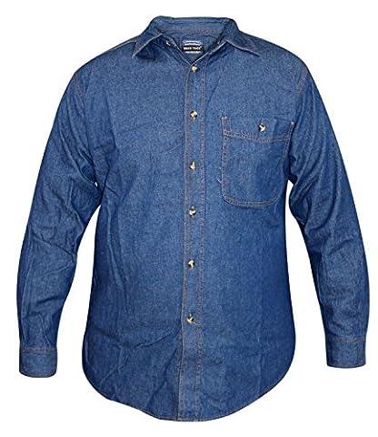 Men TrueFace Denim Shirt D-Wash 2XL