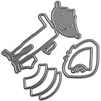 DIPOLA Troqueles de Scrapbooking Dibujos Animados Marianos de la Plantillas de Troqueles de Corte de Metal