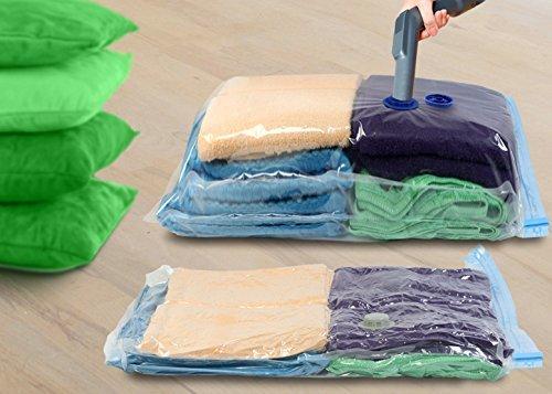 Keplin®, sacchetti per sottovuoto,ideali per vestiti, coperte, lenzuola, cuscini, coperte, tende, dimensioni 70 x 50 cm (l x h), confezione da 6 pezzi